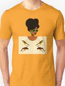 Green Glasses Postcard Girl Unisex T-Shirt