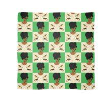 Green Glasses Postcard Girl Scarf