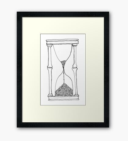 time is running out... Framed Print