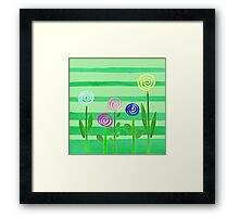 Lollipop Summer Garden Framed Print