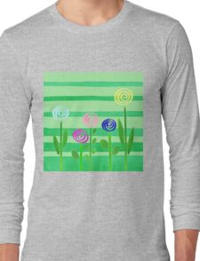 Lollipop Summer Garden Long Sleeve T-Shirt
