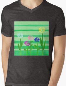 Lollipop Summer Garden Mens V-Neck T-Shirt
