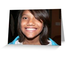 Girl Face Smile Greeting Card