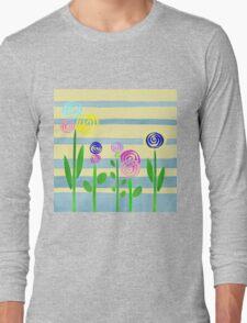 Lollipop Flower Bed Long Sleeve T-Shirt
