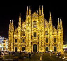 Milan cathedral by Night by Atanas Bozhikov NASKO