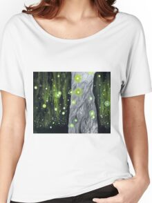 Lightning Bugs Behind a Curtain of Willow Tears Women's Relaxed Fit T-Shirt