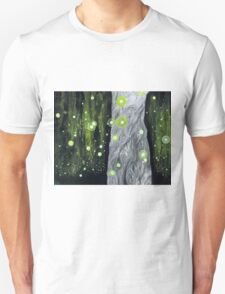 Lightning Bugs Behind a Curtain of Willow Tears T-Shirt