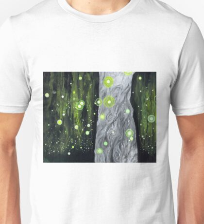 Lightning Bugs Behind a Curtain of Willow Tears Unisex T-Shirt