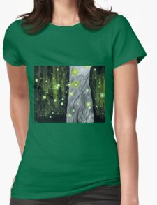 Lightning Bugs Behind a Curtain of Willow Tears Womens Fitted T-Shirt