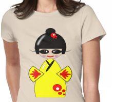 Kokeshi Doll Tee & Sticker Womens Fitted T-Shirt