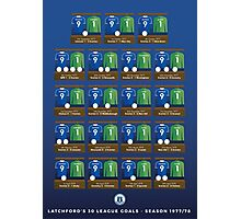 Bob Latchford's 30 Goals Photographic Print