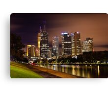 Autumn Night on Swan Street Bridge Canvas Print