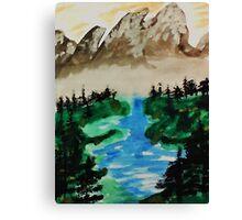 Lake Tahoe 2 of a series, watercolor Canvas Print