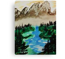 Lake Tahoe 2 of a series, watercolor Canvas Print