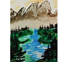 Lake Tahoe 2 of a series, watercolor Photographic Print