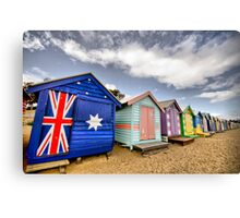 Brighton Beach Bathing Boxes Canvas Print