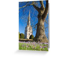 Painswick Church, The Cotswolds, England Greeting Card