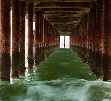 Under the pier by Christopher Cullen