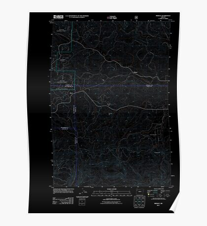 USGS Topo Map Oregon Midway 20110810 TM Inverted Poster
