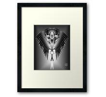 Raven Mask Framed Print