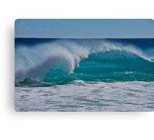 Blue Ocean and Spray Canvas Print