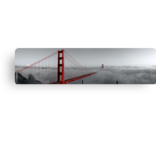 Golden Gate Bridge — Black and Red Canvas Print
