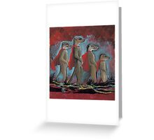 Super Hero Meerkats Assemble! Greeting Card