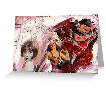 Miss size D, 2011 Greeting Card