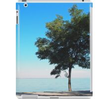 Lonely tree with green leaves on the coast  iPad Case/Skin