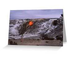 The fall of the sun? - Yellowstone Park Greeting Card