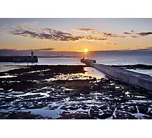 Seahouses Sunset Photographic Print