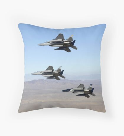 USAF F15D Eagle Throw Pillow