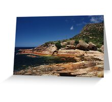 Rocky Coastline, Freycinet National Park, Tasmania Greeting Card