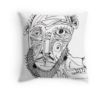Grizzled Throw Pillow