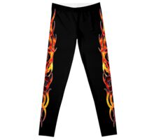 Tattoo Flame Design Leggings Leggings