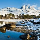 Slioch, from Loch Maree, Scottish Highlands. by Justin Foulkes