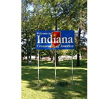 Indiana Welcome Sign Photographic Print