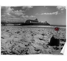 Bournemouth Pier in Black and White Poster
