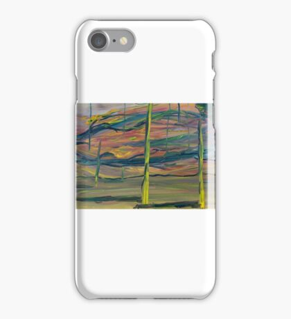 Abstract Desert Landscape with reptile snout oil painting iPhone Case/Skin