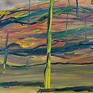 Abstract Desert Landscape with reptile snout oil painting by Followthedon
