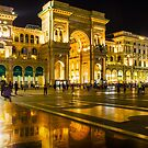 Piazza del Duomo at night, Milan, ITALY by Bruno Beach