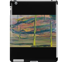 Abstract Desert Landscape with reptile snout oil painting iPad Case/Skin