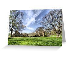 Kirkstall Abbey #3 Greeting Card
