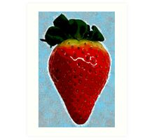 Delicious strawberry Art Print