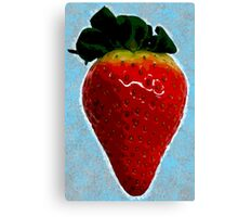 Delicious strawberry Canvas Print