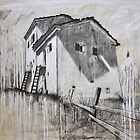 Mountain Houses, Valais Switzerland by itchingink