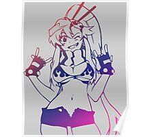 gurren lagann yoko littner anime manga shirt Poster