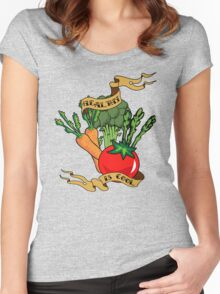 Healthy is Cool Women's Fitted Scoop T-Shirt