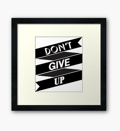 Inspirational motivational quote Framed Print