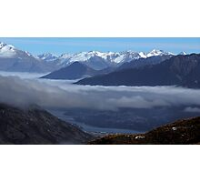 Queenstown from Crown Range Road Photographic Print